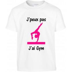 T-shirt enfant J'peux pas J'ai gym Cadeau D'amour