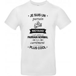 T-shirt homme Col Rond Je suis un parrain Motard Cadeau D'amour