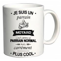 Mug Je suis un parrain Motard Cadeau D'amour