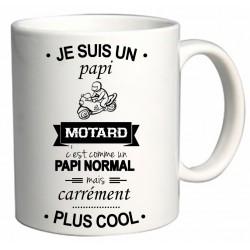 Mug Je suis un papi Motard Cadeau D'amour