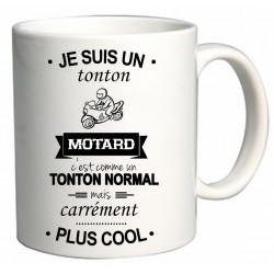 Mug Je suis un tonton Motard Cadeau D'amour