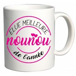 Mug Elue meilleure Nounou de l'année Cadeau D'amour