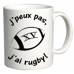 Mug J'peux pas J'ai Rugby ! Cadeau D'amour