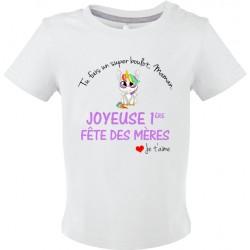 T-shirt bébé Tu fais un Super boulot Maman Joyeuse 1ère fête des mères Cadeau D'amour