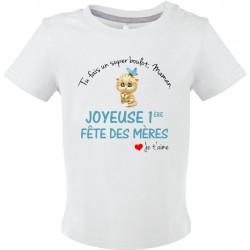 T-shirt bébé Tu fais un super boulot Maman, Joyeuse 1ère fête des mères Cadeau D'amour