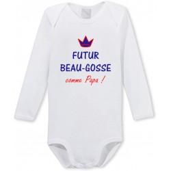Body manches longues Futur Beau-Gosse comme Papa Cadeau D'amour
